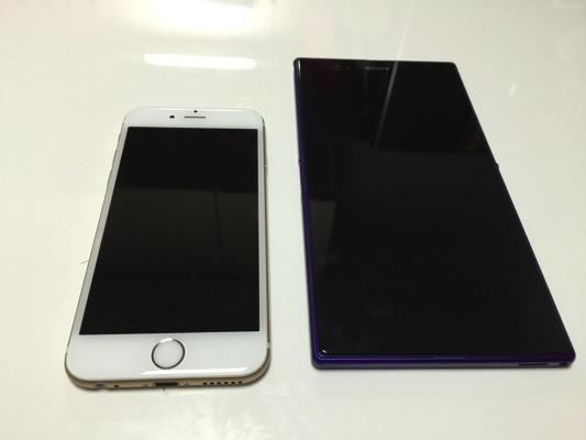 【au】iPhone6のSIMをXperiaZUltraのSIMに入れてみた