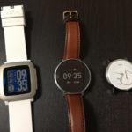 Huawei FitとPebble Time比較
